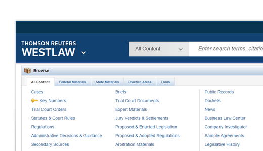 Seamless Westlaw integration