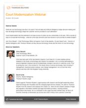 Court Modernization Webinar