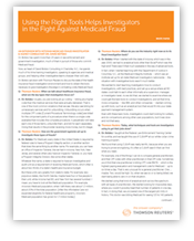 Using the Right tools helps Investigators in the fight against medicaid fraud - PDF