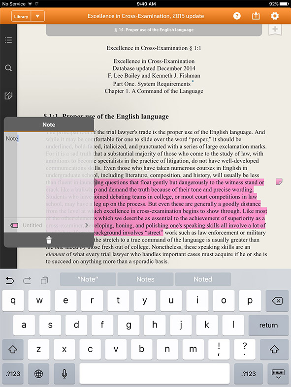 Proview eBooks interface