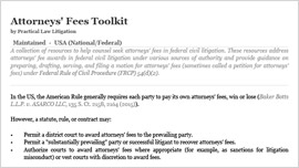 Attorneys' Fees Toolkit