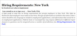 Hiring Requirements: New York