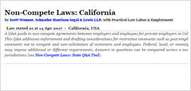 Non-Compete Law: California