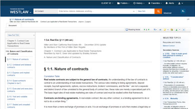 Table of contents available in the document display