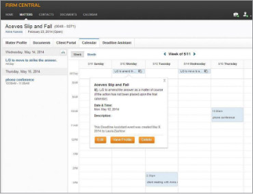 Rules-based legal calendaring with Deadline Assistant*