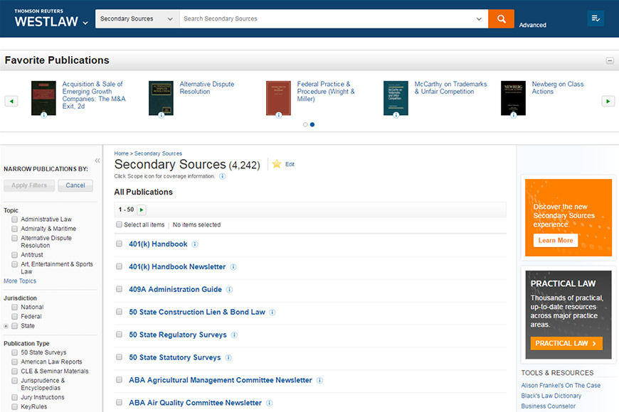 Secondary sources homepage