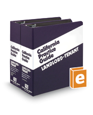 Landlord-Tenant (The Rutter Group California Practice Guide)
