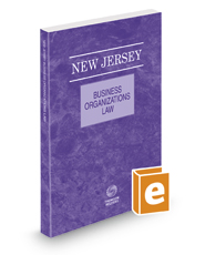 New Jersey Business Organizations Law, 2017 ed.