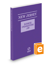 New Jersey Business Organizations Law, 2018 ed.