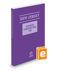 New Jersey Business Organizations Law, 2021 ed.