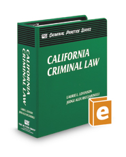 California Criminal Law (The Rutter Group Criminal Practice Series)