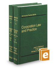 Corporation Law & Practice, 3d (Vols. 18 & 19, Minnesota Practice Series)