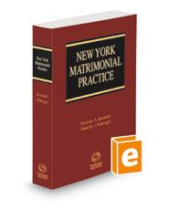 New York Matrimonial Practice, 2021 ed.