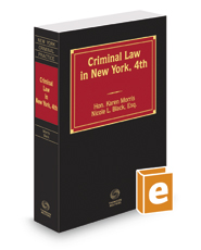 Criminal Law in New York, 4th, 2016-2017 ed.