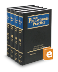 Pennsylvania Criminal Practice, 2d (Vol. 16 - 16C, West's® Pennsylvania Practice)
