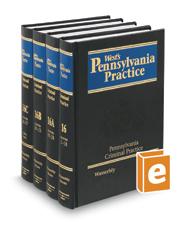 Pennsylvania Criminal Practice, 2d (Vol. 16 - 16C, West's® Pennsylvania Practice)