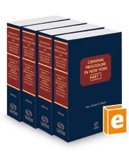 Criminal Procedure in New York, 2021-2022 ed.