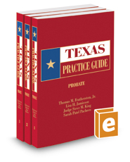 Probate, 2016-2017 ed. (Texas Practice Guide)