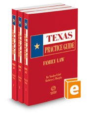 Family Law, 2020-2021 ed. (Texas Practice Guide)