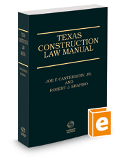 Texas Construction Law Manual, 3d, 2018-2019 ed.