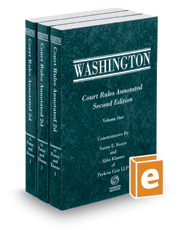 Washington Court Rules Annotated, 2d, 2018-2019 ed.