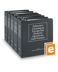 Eckstrom's Licensing in Foreign and Domestic Operations: Joint Ventures