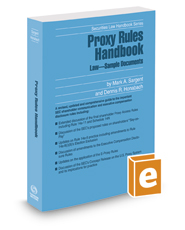 Proxy Rules Handbook, 2016-2017 ed. (Securities Law Handbook Series)
