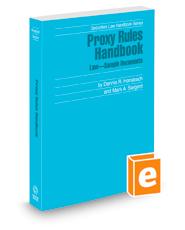 Proxy Rules Handbook, 2020-2021 ed. (Securities Law Handbook Series)