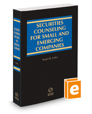 Securities Counseling for Small and Emerging Companies, 2018-2019 ed.