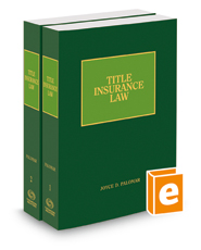 Title Insurance Law, 2018 ed.