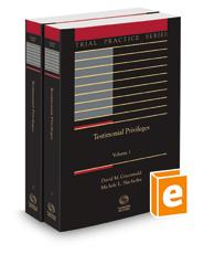 Testimonial Privileges, 2021 ed. (Trial Practice Series)
