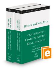 Hanna and Van Atta on California Common Interest Developments, 2021-2022 ed. (The Expert Series)