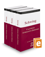 California Affirmative Defenses, 2017 ed. (The Expert Series)