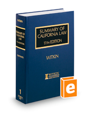 Summary of California Law, 11th (Witkin Library)