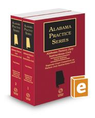 Alabama Pattern Jury Instructions - Civil, 3d (2016-2017 ed.) (Alabama Practice Series)