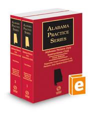 Alabama Pattern Jury Instructions - Civil, 3d (2018-2019 ed.) (Alabama Practice Series)
