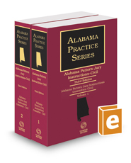 Alabama Pattern Jury Instructions - Civil, 3d (2020-2021 ed.) (Alabama Practice Series)