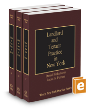 Landlord and Tenant Practice in New York, 2020-2021 ed. (Vols. F-H, New York Practice Series)