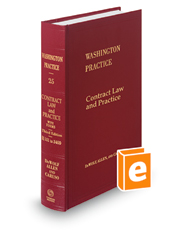 Contract Law & Practice, 3d (Vol. 25, Washington Practice Series)