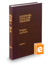 Evidence and Proof, 2d (Vol. 19, Louisiana Civil Law Treatise Series)