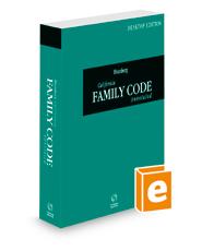 Blumberg California Family Code Annotated, 2022 ed. (California Desktop Codes)