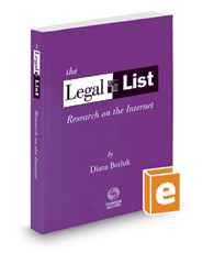 The Legal List: Research on the Internet, 2017-2018 ed.