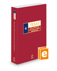 Texas Civil Practice Statutes and Rules Annotated, 2020 ed. (Texas Annotated Code Series)
