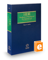 HDR Handbook of Housing and Development Law, 2018-2019 ed.
