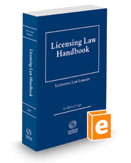 Licensing Law Handbook, 2018-2019 ed.