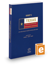 Carlson's Texas Rules of Appellate Procedure Annotated, 2017 ed. (Texas Annotated Code Series)