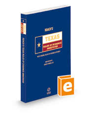 Roach's Texas Rules of Evidence Annotated, 2021 ed. (Texas Annotated Code Series)