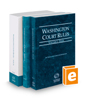 Washington Court Rules - State, Federal, and Local, 2019 ed. (Vols. I-III, Washington Court Rules)