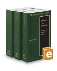 Minnesota Business Law Deskbook, 2018-2019 ed. (Vols. 20 & 20A, Minnesota Practice Series)