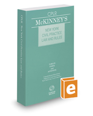 McKinney's New York Civil Practice Law and Rules, 2016 ed.